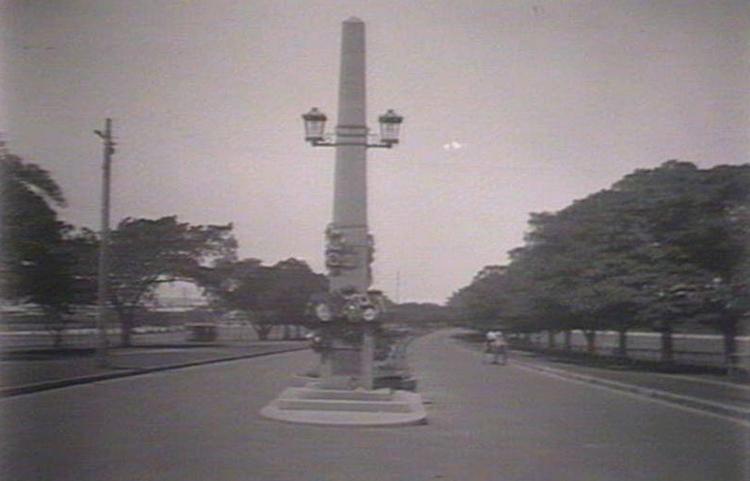 Anzac Parade Obelisk in 1922