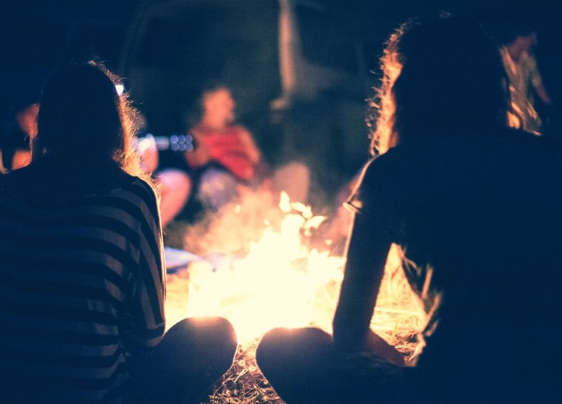 campfire, nature play, nature education, centennial park