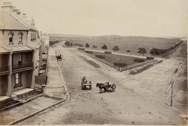 Looking south to Moore Park (along what is nowadays Finders Street and Anzac Parade) - circa 1880s