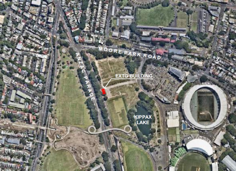 New Kippax Amenities in Moore Park East