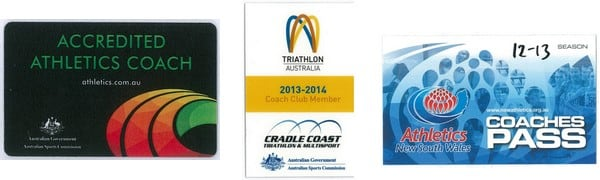 An 'accredited coach' must have their official acceditation card on them at time of entry (such as these examples)
