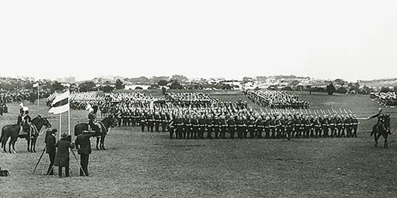 duke witnessing march past 1901 centennial park national heritage listing