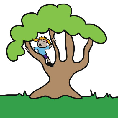 Comic of a child in a tree