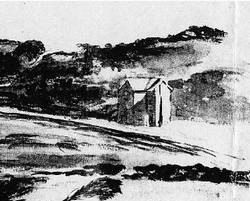 Watercolour of Randwick toll house by Samuel Elyard (image courtesy Mitchell Library)