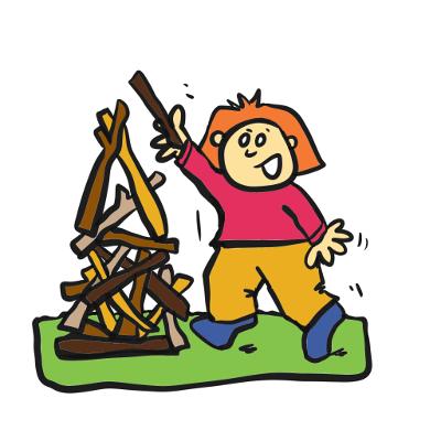 Illustration of a girl building a habitat